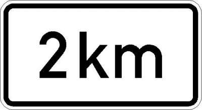Zusatzzeichen nach km (individuelle Angabe) 1004-35