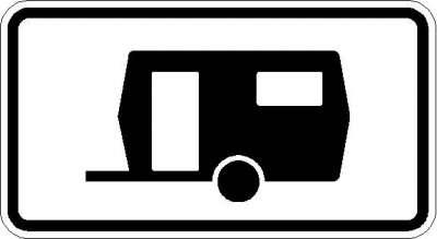 Zusatzzeichen Wohnwagen dürfen länger parken 1010-13