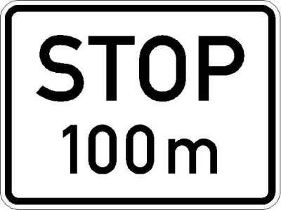 Zusatzzeichen Stop nach ...m (individuelle Angabe) 1004-31
