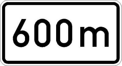 Zusatzzeichen nach ...m (individuelle Angabe) 1004-34