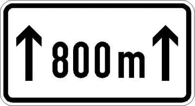 Zusatzzeichen auf ...m (individuelle Angabe) 1001-30
