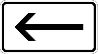 Zusatzzeichen Richtung, linksweisend 1000-10