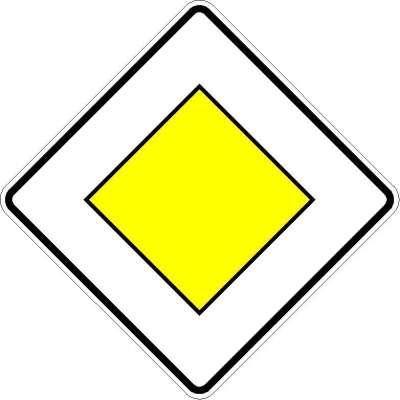 Richtzeichen Vorfahrtstraße 306