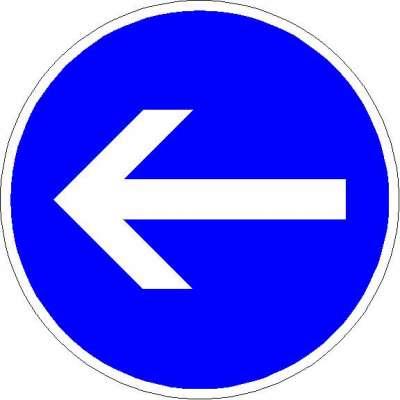 Vorschriftzeichen vorgeschriebene Fahrtrichtung - hier links 211-10