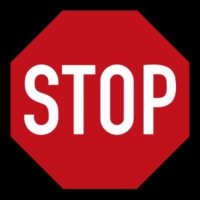 Vorschriftzeichen Halt Vorfahrt gewähren - Stop Schild - 206