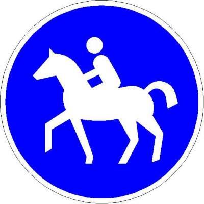 Vorschriftzeichen Sonderweg Reiter 238