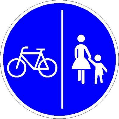 Vorschriftzeichen getrennter Rad- und Fußweg 241-30