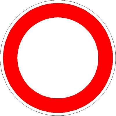 Vorschriftzeichen Verbot für Fahrzeuge aller Art 250