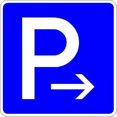 Richtzeichen Parkplatz (Ende) 314-20