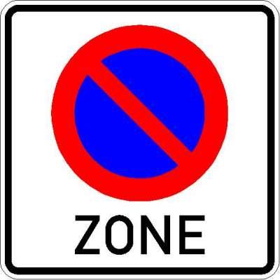Vorschriftszeichen eingeschränktes Haltverbot für eine Zone 290