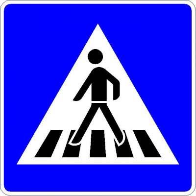 Richtzeichen Fußgängerüberweg (doppelseitig) 350-40