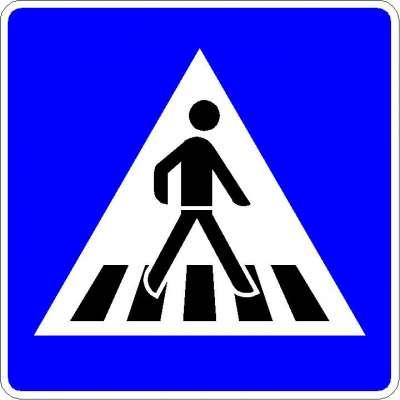 Richtzeichen Fußgängerüberweg (Linksaufstellung) 350-20