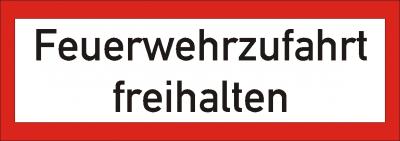 Warn/Hinweisschild Feuerwehrzufahrt freihalten W20