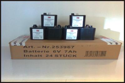 Blockbatterie für Blitzleuchte Baustellenlampe Batteriewarnleuchte
