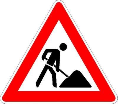Gefahrzeichen Arbeitsstelle 123