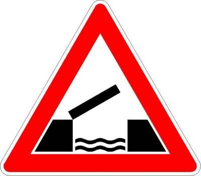 Gefahrzeichen bewegliche Brücke 101-55