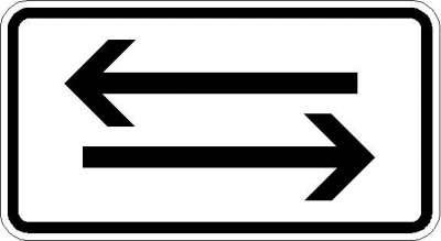 Zusatzzeichen beide Richtungen 1000-30