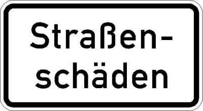 Zusatzzeichen Straßenschäden 1006-34