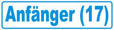 Magnetschild Anfänger 17 blau