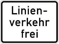 Zusatzzeichen Linienverkehr frei 1026-32
