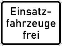 Zusatzzeichen Einsatzfahrzeuge frei 1026-33