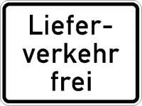 Zusatzzeichen Lieferverkehr frei 1026-35
