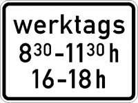 Zusatzzeichen zeitliche Beschränkung 3 Zeilen (individueller Text) 1042-32