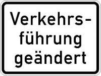 Zusatzzeichen Verkehrsführung geändert 1008-31