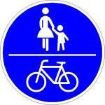 Vorschriftzeichen gemeinsamer Fuß- und Radweg 240