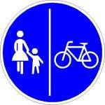 Vorschriftzeichen getrennter Fuß- und Radweg 241-31
