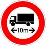 Vorschriftzeichen Verbot für Fhzg über angegebene Länge (indiv. Abgabe) 266