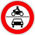 Vorschriftzeichen Verbot für Krafträder und Kraftfahrzeuge 260