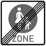 Vorschriftszeichen Ende eines Fußgängerbereichs 243-50