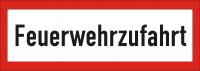 Warn/Hinweisschild Feuerwehrzufahrt W19