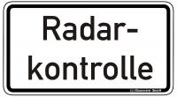 Warn/Hinweisschild Radarkontrolle W24