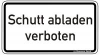 Warn/Hinweisschild Schutt abladen verboten W25