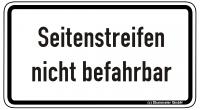 Warn/Hinweisschild Seitenstreifen nicht befahrbar W28