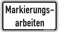 Warn/Hinweisschild Markierungsarbeiten W29