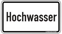 Warn/Hinweisschild Hochwasser W30