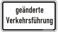 Warn/Hinweisschild geänderte Verkehrsführung W31
