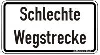Warn/Hinweisschild Schlechte Wegstrecke W32