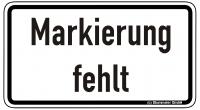 Warn/Hinweisschild Markierung fehlt W33
