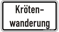 Warn/Hinweisschild Krötenwanderung W34