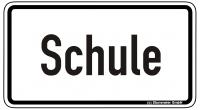 Warn/Hinweisschild Schule W36