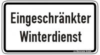 Warn/Hinweisschild Eingeschränkter Winterdienst W37