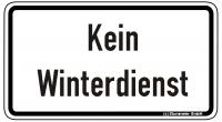 Warn/Hinweisschild Kein Winterdienst W38