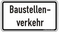 Warn/Hinweisschild Baustellenverkehr W40