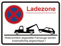 Parkplatzschild  Halteverbot - Ladezone