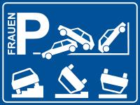 Parkplatzschild Frauen-Parkplatz lustig