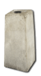 Betonsockel für Rohrpfosten 60mm komplett mit Holzkeilen